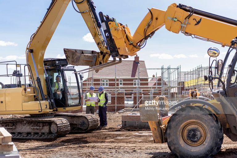 Diggers on Housing Site