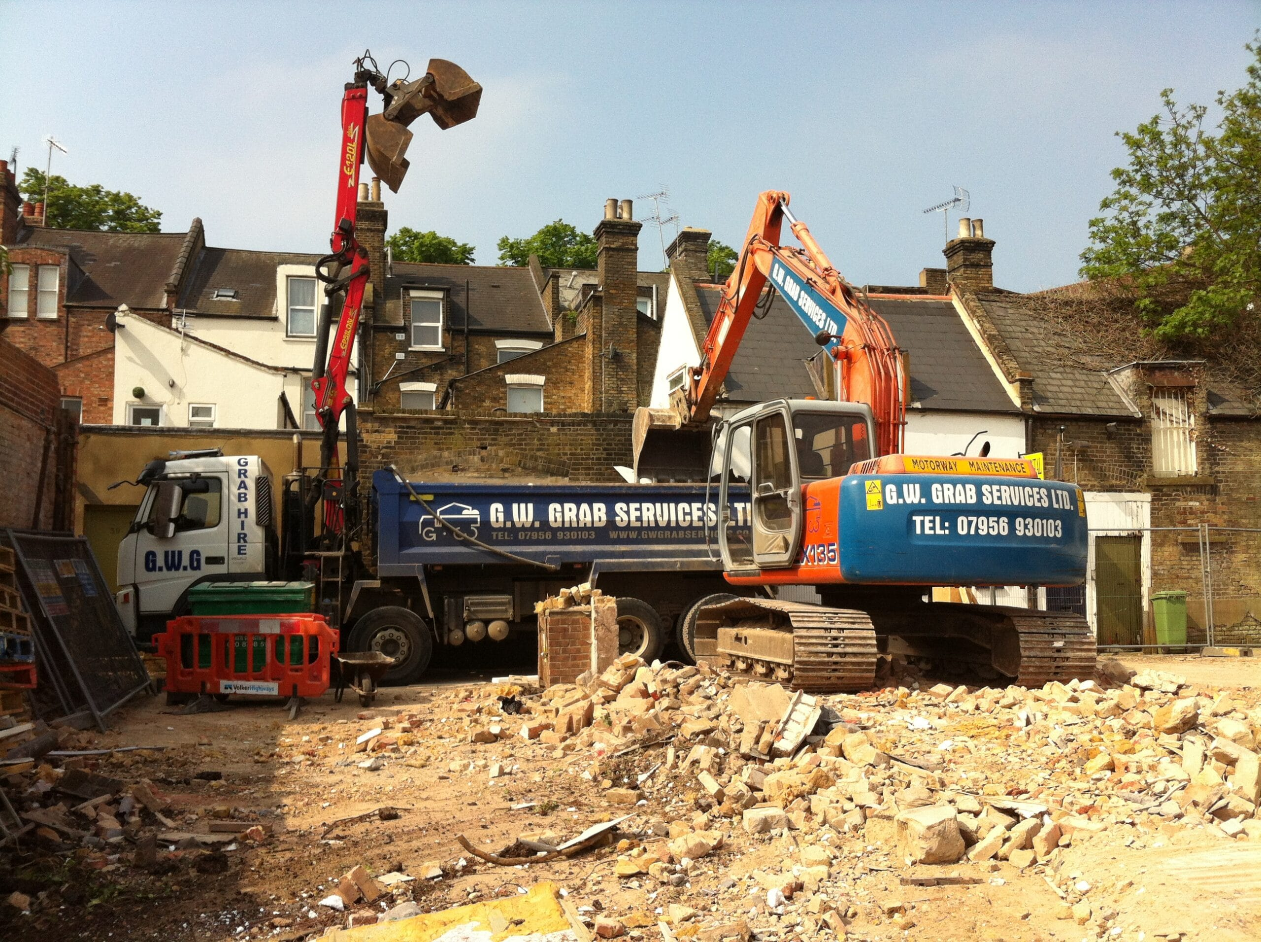 Man With Digger Hire Bishops Stortford